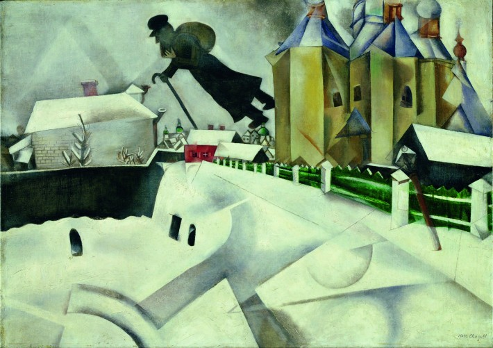 Au dessus de Vitebsk, 1915-1920New York, the Museum of Modern Art