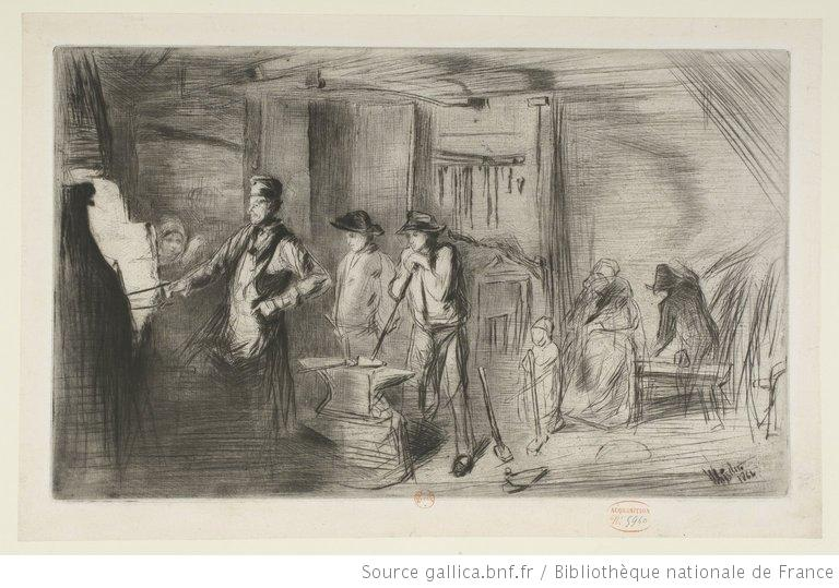 Whistler, The forge, 1861-1871, eau-forte, 4e état, BnF