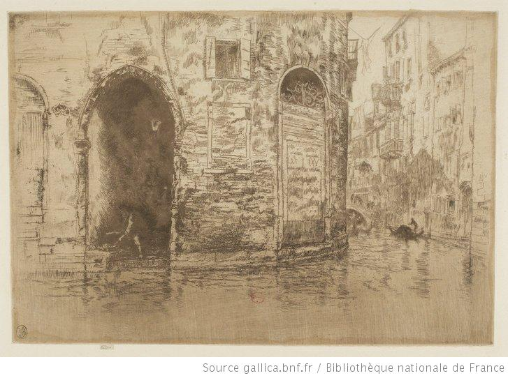 Whistler, Two doorways, 1880, eau-forte, 3e état, BnF