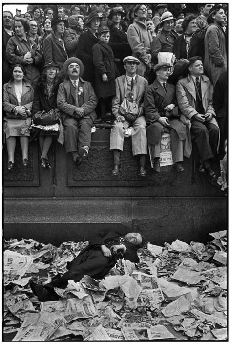 Cartier-Bresson, couronnement de George IV, 12 mai 1937, Londres, © Henri Cartier-Bresson/Magnum Photos