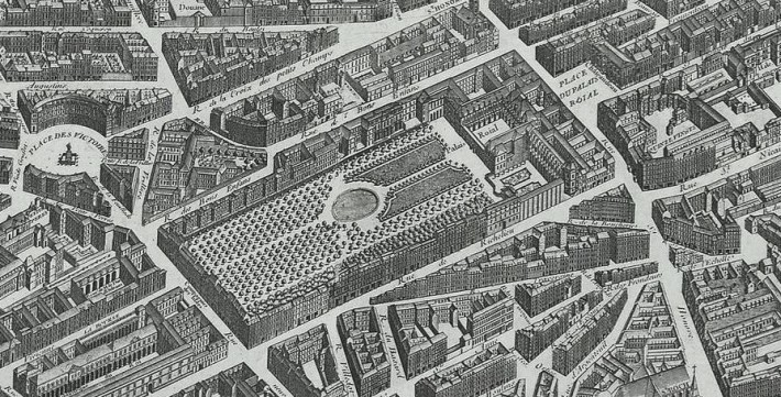 Plan Turgot détail du Palais Royal