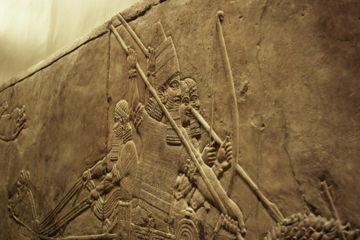 Orthostate : bas relief de Ninive, British Museum