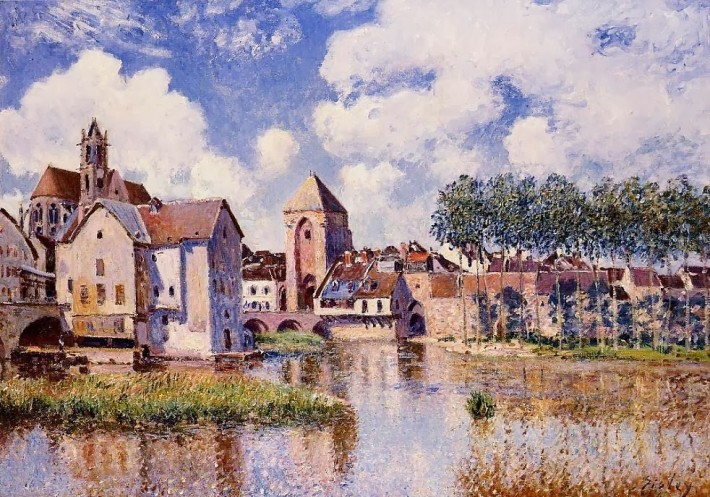 Sisley, Moret-sur-Loing, la porte de Bourgogne, 1891, collection privée