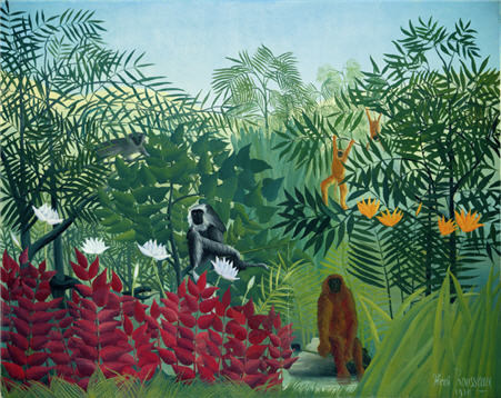 Douanier Rousseau, Forêt tropicale avec singes, 1910, Washington, National Gallery of Art