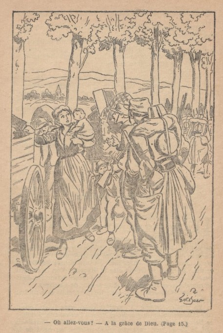 "Illustration tirée de Frichr, Le grand Couronné de Nancy, 1917, collection ""Patrie"". BnF/Gallica"