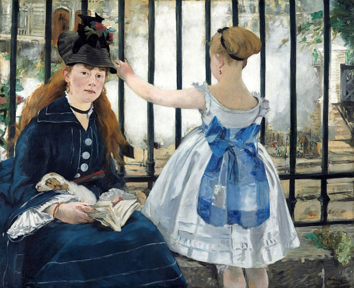 Edouard Manet, Le Chemin de fer, #872-1873, National Gallery of Art, Washington